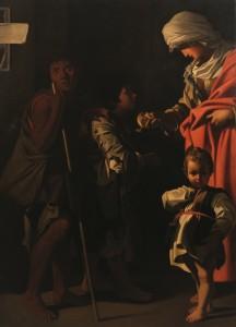 Anonim - Caritatea, ulei pe panza, sec. al XVII-lea