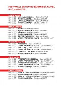 Program Tandarica Altfel 6-10apr