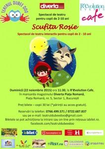 """Scufita Rosie"" – spectacol de teatru interactiv pentru copii"