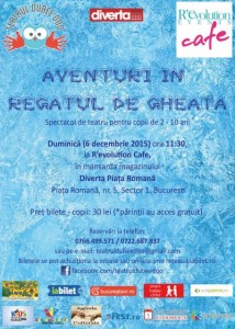 Aventuri in Regatul de Gheata, spectacol de teatru pentru copii de 2-10 ani
