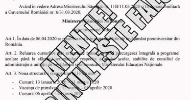 Atenționare a Ministerului Educației pe tema unui document fals despre modificarea structurii anului școlar 2019-2020