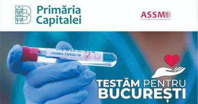 Începe marea testare în Capitală: Primăria Capitalei lansează pe 22 mai, la ora 13:00, platforma online www.testampentrubucuresti.assmb.rowww.testampentrubucuresti.assmb.ro, unde se pot înscrie voluntar 11.000 de bucureșteni, pentru a fi testați gratuit în vederea depistării infecției cu noul coronavirus