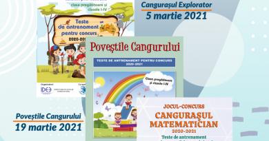Jocurile-concurs internaţionale Cangurul 2021 debutează în luna martie