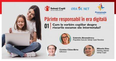 Utilizarea excesivă a internetului, informațiile false și cyberbullying-ul, principalele riscuri la care pandemia îi expune pe copii și părinți