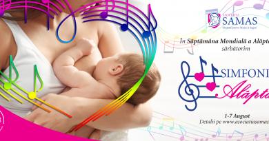 Asociația SAMAS marchează Săptămâna Mondială a Alăptării printr-un eveniment artistic, unic în România, care se desfășoară între 1-7 august 2021